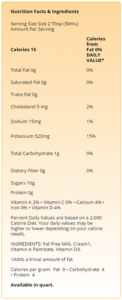 Nutrition Facts and Ingredients - Skim Plus® Milk