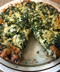 Low-Cal Crustless Spinach Quiche