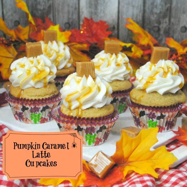 Pumpkin Caramel Latte Cupcakes