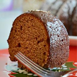 Gingerbread Bundt Cake with Chocolate Glaze